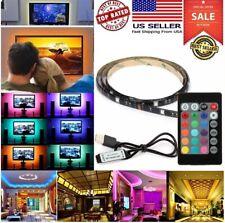 USB 5V LED Strip Light TV Backlight Kit 5050 RGB Color Change Remote Control Kit