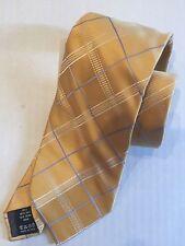 VALENTINO 100% Silk Tie ~ $145 NWT Yellow Gold Stripe GEO  ITALY NEW