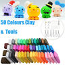 50X Malleable Fimo Polymer Modelling Soft Clay Block Set DIY Craft With Tool NEW