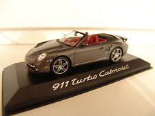Minichamps WAP 02000218 Porsche 911 Turbo Cabriolet Grau Metallic in OVP 1:43