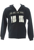 Ripple Junction Dark Navy Doctor Who Call Box Window Adult Hoodie $44.50 NWT