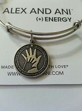 Alex and Ani HAND IN HAND Mother's Love Charm Bangle BOX Bracelet R Silver