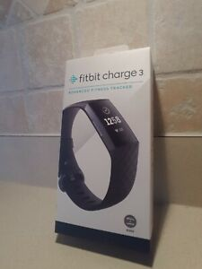 Fitbit Charge 3 Fitness Activity Tracker (BLACK) NEW