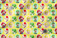 "Printed cotton 100% Eco-print ""SUPER MARIO"" #18, Printed Fabric"
