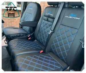 Ford Transit Custom CREW CAB HIGH QUALITY SEAT COVERS ECO LEATHER 6 seater