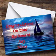 Sailing Boat Personalised Retirement Greetings Card