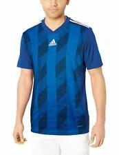 adidas Men's Striped 19 Soccer Jersey, Bold Black/Blue/White, Large New Nwt