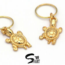 *CUTE* GOLD TURTLE Hair Rings For Tresses Braids Plaits Accessories 10 20/Set