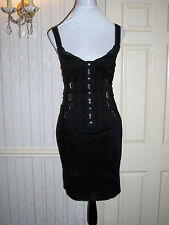 D & G Black Corset Buckle Dress Size 42(UK 10) Good Condition