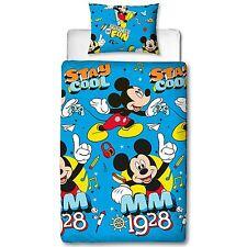 Mickey Mouse fresco simple Juego Funda Edredón infantil niño ropa de cama 2 in 1