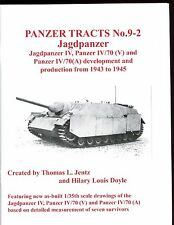 PANZER TRACTS # 9-2 JAGDPANZER IV, IV/70,   German AFV,  by Jentz & Doyle new SB
