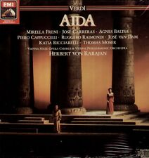 Verdi-Aida 1986 remastered sealed Box, Freni, Carreras, Baltsa, Karajan