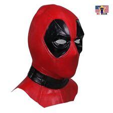 Deadpool America Helmet Costume Latex Rubber Horror Scary Mask Halloween Party