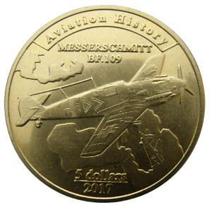 AGRIHAN ISLAND - USA 5 DOLLARS 2017 AVIATION HISTORY MESSERSCHMITT PLANE 35mm