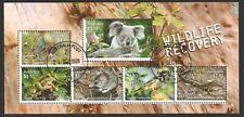 AUSTRALIA 2020 WILDLIFE RECOVERY KOALA SOUVENIR SHEET OF 5 STAMPS IN FINE USED