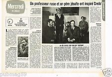 Coupure de presse Clipping 1983 (2 pages) Credo avec Jean Louis Trintignant