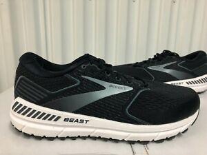 Brooks Beast 20 Black White Grey 3M Silver sz 11.5 110327 1D 051 18 Running Shoe