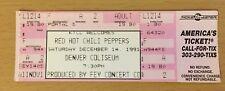 1991 PEARL JAM RED HOT CHILI PEPPERS SMASHING PUMPKINS DENVER CONCERT TICKET STU