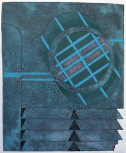 "1990 ""Avalon 1"" Limited Edition Artwork Abstract Print Make Offer!"