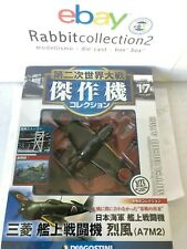 """DIE CAST """" MITSUBISHI A7M2 """" WW2 AIRCRAFT COLLECTION FIGHTER 1/72 (17)"""