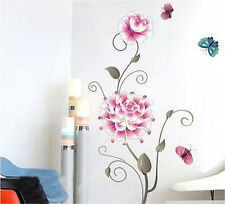 Big Flowers Room Decor Removable Wall Stickers Decal Decoration Wandtattoos