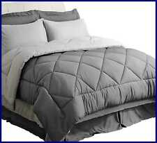 Bedsure King Bed In A Bag 8 Pc Reversible Bedding Sets Queen W Comforter & Sheet