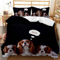 Wonderful Dog Fantasy Bone 3D Quilt Duvet Doona Cover Set Pillow case Print
