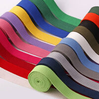 Heavy Duty Cotton Webbing 2 Inch Canvas Bag Strap Craft Fabric Tape Belt 50mm