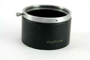 Lens hood Metal Minolta D57KD for 135mm f2.8 Rokkor PG 55mm slip on type
