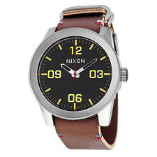 Nixon The Corporal Black Dial Brown Leather Mens Watch A243019