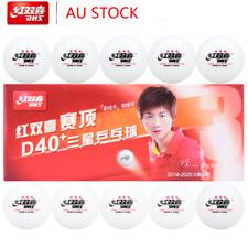10x DHS D40 3star White Table Tennis Balls