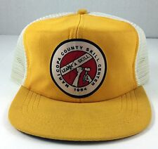 Vintage Snapback Hat Maricopa County Skill Center Logo Foam Mesh Trucker Yellow