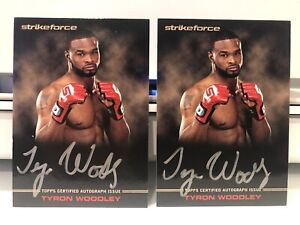 2012 Topps UFC Knockout Full-Contact Tyron Woodley Rookie First auto /99 (2)