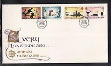 K 01) JERSEY EUROPA CEPT FDC 1981-folklore