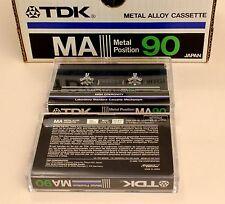 2 cassettes audio TDK METAL MA90 Japon