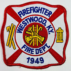 Westwood Firefighter Fire Department Boyd County Kentucky KY Patch (I5)