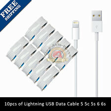 10x 8 Pin USB Charger Cord Sync Data Cable for iPhone 7 6S 6 5S 5 C SE 3FT