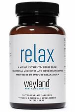 Relax - Stress Support Supplement  w/ L-Theanine, Ashwagandha & More. FREE S&H