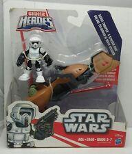 Scout Trooper & Speeder Bike Star Wars Galactic Heroes New Figure Disney Hasbro