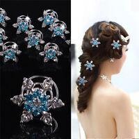5 pcs Wedding Women Bridal Pearl Flower Crystal Hair Pins Clips Hair Accessories