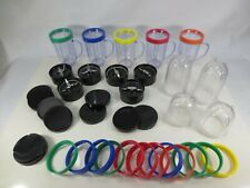 Magic Bullet Blender Replacement Parts Blades Cup Mugs Color Rings Lot MB1001