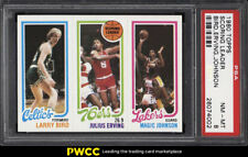 1980 Topps Basketball Larry Bird & Magic Johnson ROOKIE RC PSA 8 NM-MT (PWCC)