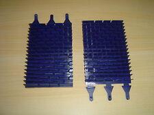 LOT DE 2 BROSSES LAMELLES BLEUES PVC ROBOT PISCINE VORTEX 3 ZODIAC R0635900