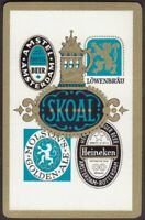 Playing Cards 1 Single Card Old BEER TOBACCO Advertising Art AMSTEL MOLSON SKOAL