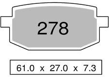 Couple plaquettes de frein avant organique FANTIC 50 PONY 50 SR 1993  278 TROFEO