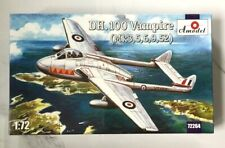 A MODEL 1/72 BRITISH DH DEHAVILAND VAMPIRE MK. 3 , 5 , 6 , 52 MODEL # 72264 F/S