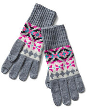 Gap NWT Crazy Fair Isle Merino Wool Blend Smartphone Gloves One Size $30