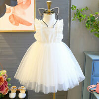 Toddler Kids Baby Girls Dress Embroidery Tulle Party Pageant Princess Dresses AU