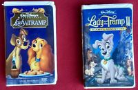 Disney's Lady and the Tramp + Scamp's Adventure 2 VHS Tapes Animated Lot Bundle