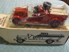 1926 Red SEAGRAVE FIRE TRUCK BANK /Lock+key ERTL 1/34 scale stock #9700
